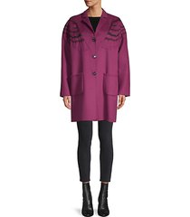 owl wool & cashmere-blend coat