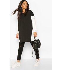 maternity contrast tunic blouse, black