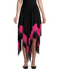opal goddess fringed handkerchief skirt