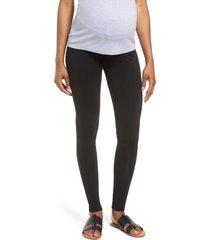 women's isabella oliver easy maternity leggings, size 3 - black