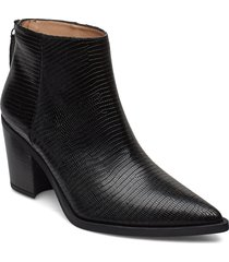 mirte_btj shoes boots ankle boots ankle boots with heel svart unisa