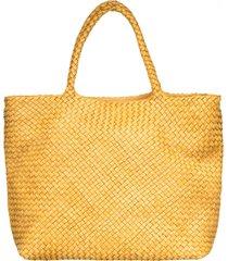officine creative officine creative yellow class35 braided bag