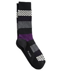 jos. a. bank colorblock & dots mid-calf socks, 1-pair