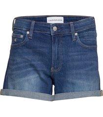 mid rise short shorts denim shorts blå calvin klein jeans
