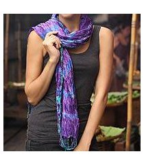 tie-dyed scarf, 'smoky lily' (thailand)