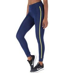 calça legging oxer active comfort color - feminina - azul esc/verde cla