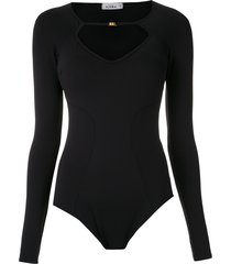 amir slama long-sleeved bodysuit - black