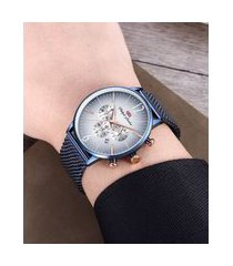 relógio cronógrafo philiph london masculino - pl80162613m azul