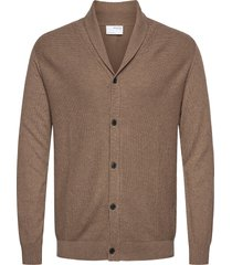 slhberg shawl cardigan b stickad tröja cardigan brun selected homme