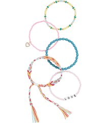 women's bp. set of 5 beaded bracelets