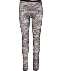 lace jersey leggings floral motif