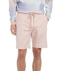 boss kendo stretch poplin shorts, size 38 in light/pastel pink at nordstrom