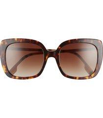 women's burberry 54mm gradient square sunglasses - dark havana/ brown gradient