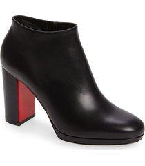 women's christian louboutin pastuer block heel bootie