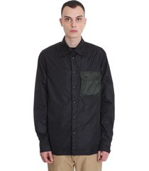 marni shirt in black tech/synthetic