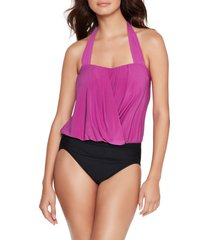 magicsuit(r) olivia solid underwire one-piece swimsuit, size 12 in hibiscus at nordstrom