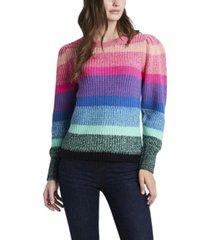 women's long sleeve color block sweater