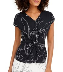 alfani twist-front top, created for macy's