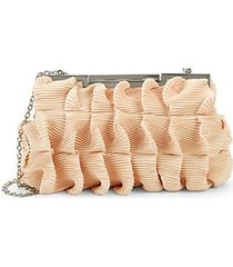 pleated ruffle clutch