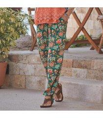 sundance catalog women's riya beach pants in jungleflrl xl
