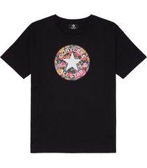 converse camiseta floral chuck taylor patch black