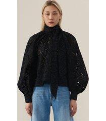 ganni blouse f3941 zwart