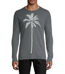 kinetix men's palm tree thermal t-shirt - black - size m