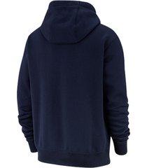 buzo con capucha de hombre m nsw jdi hoodie po flc mix nike azul