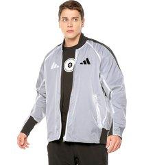 chaqueta doble faz blanco-negro adidas performance m vrct oversize
