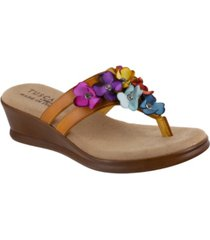 tuscany by easy street allegro thong sandals women's shoes