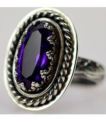 ametyst retro - pierścionek