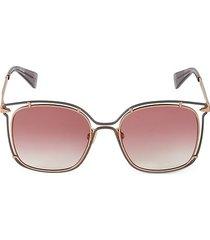56mm oversized square sunglasses
