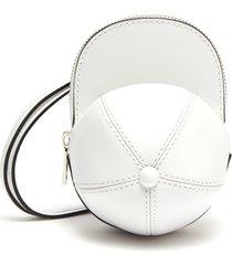 nano cap' crossbody strap leather bag
