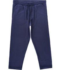 ymc alva cotton loopback sweat skate trousers   navy   p4qan-40