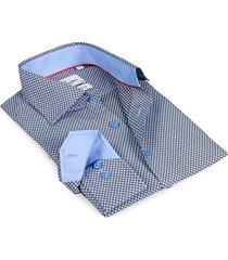 levinas men's finollo contemporary-fit dress shirt - black - size 15