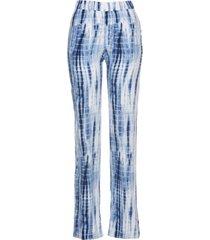 pantaloni in viscosa con elastico in vita (blu) - bpc selection