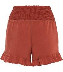 shorts con volant (rosso) - bodyflirt