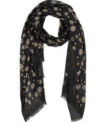 kate spade new york daisy dot oblong scarf in black at nordstrom