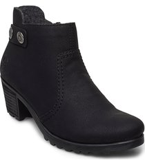 y8062-00 shoes boots ankle boots ankle boot - heel svart rieker