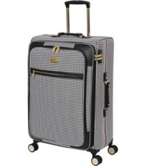 "it girl 28"" prestigious softside semi-expandable spinner suitcase"