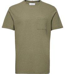 brenon linen t-shirt t-shirts short-sleeved grön les deux