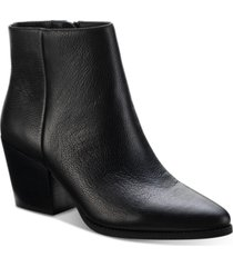 sun + stone eryn block-heel booties, created for macy's women's shoes