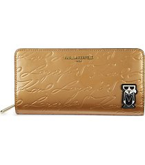 logo pvc zip-around wallet