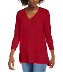 maison jules v-neck sweater, created for macy's
