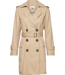 dhida trenchcoat trenchcoat lange jas beige denim hunter
