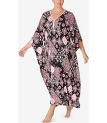 ellen tracy printed caftan nightgown