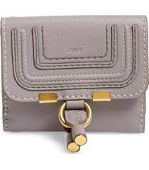 women's chloe 'marcie' french wallet - grey