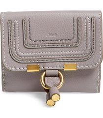 chloe marcie leather french wallet in cashmere grey at nordstrom
