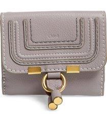 women's chloe marcie leather french wallet - grey