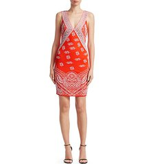 bandana print jacquard dress